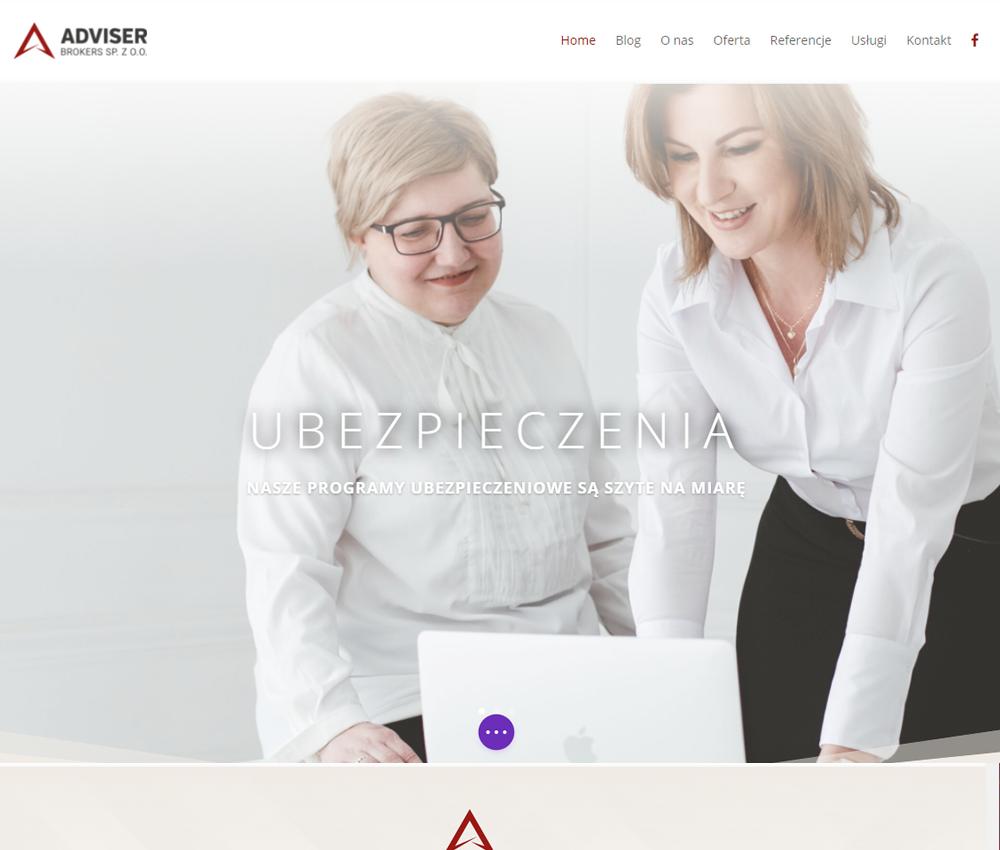 Widok strony internetowej Adviser Brokers sp. z o.o.